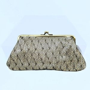 Kenneth Cole Reaction Sparkling Gold Lace Clutch